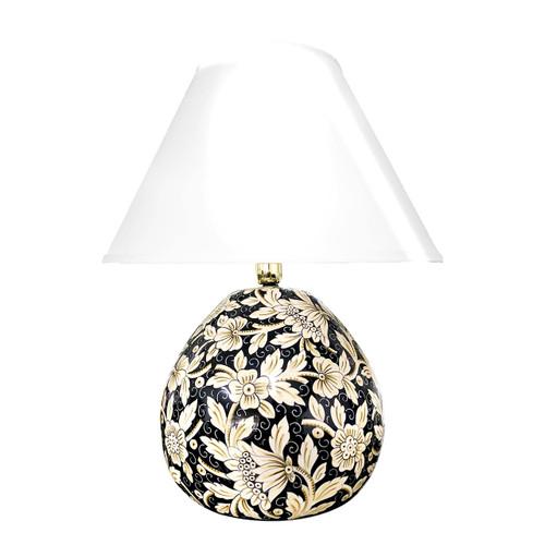 Italian pottery lamps - Handpainted ceramic lamps