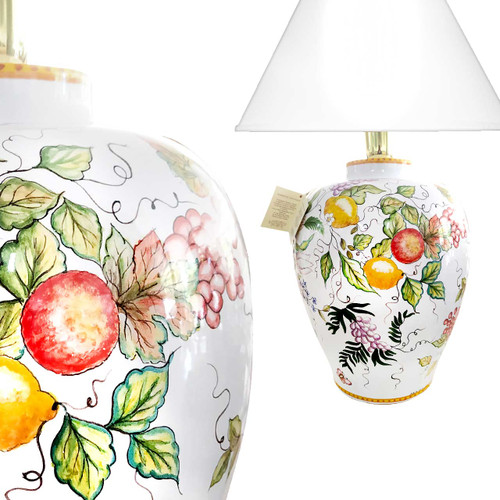 Ceramic for sale- Pottery lamps handpainted made in Deruta