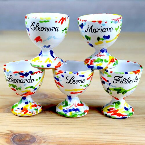 Italian ceramic egg holder- customizable wedding favors
