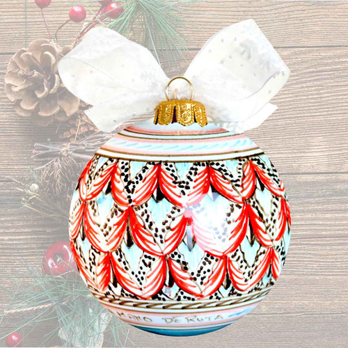Pottery-christmas-ball-peacock-decoration-pottery-for-sale