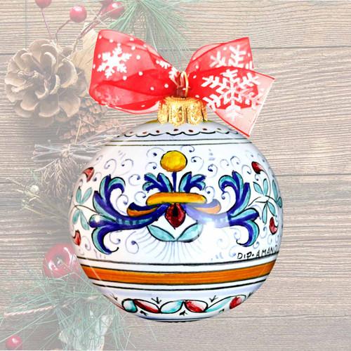 Ricco Deruta Christmas Ball-Ceramics christmas