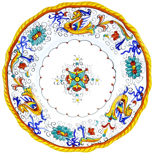 Deruta dinner plates Raffaellesco