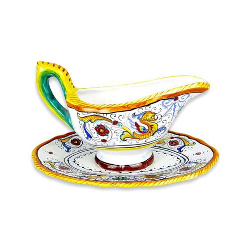 Pottery store raffaellesco saucer hand painted