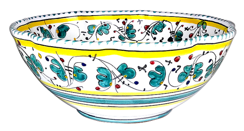 "Serving Bowl 10.0 Inches ""Galletto"" Verde"