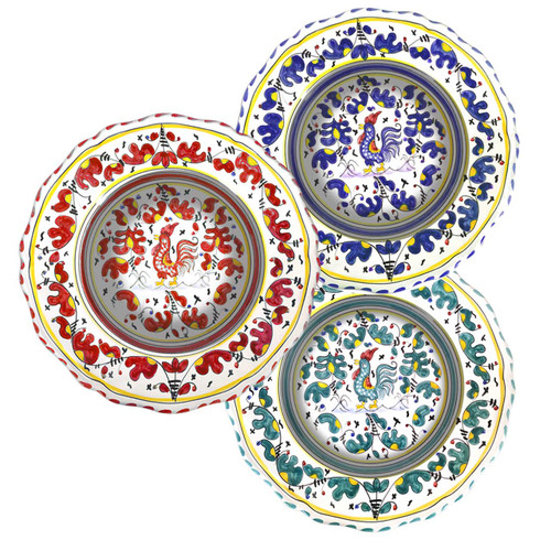 Pasta Soup Plate Orvietano made in Deruta-Ceramics from Italy