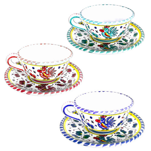 Tea cup of Ceramic From Italy Orvieto Decoration.