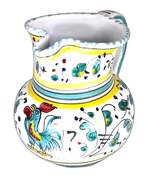 Italian ceramic Pitcher Orvieto Green