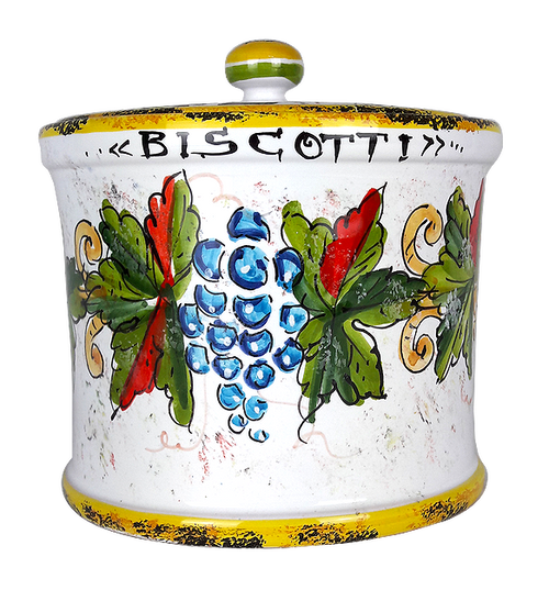 Italian ceramic cookie jar