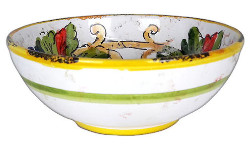 Cereal Bowl with Italian ceramics decoration