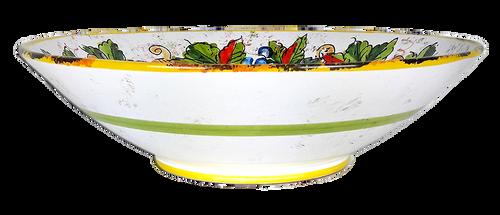 Italian ceramics pottery bowl hand painted