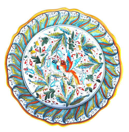 Ceramic Round Serving Plate Love Birds