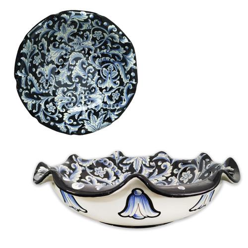Centerpiece of Ceramic handmade in Deruta