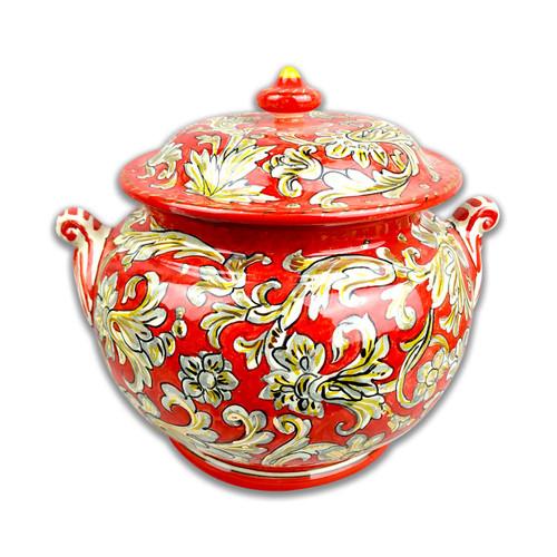 Luxury ceramic jar with gold finish Tony Decoration