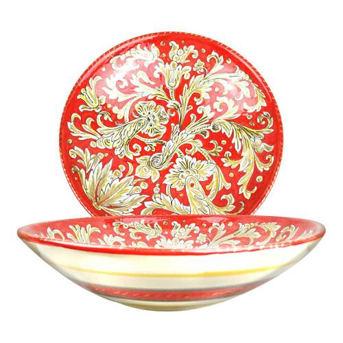 Ceramic centerpiece hand painted ony decoration