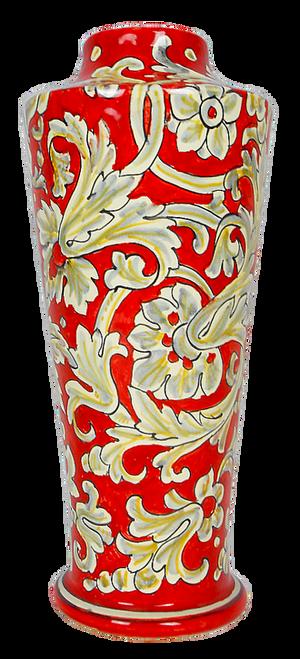 Italian pottery vase handpainted by mod