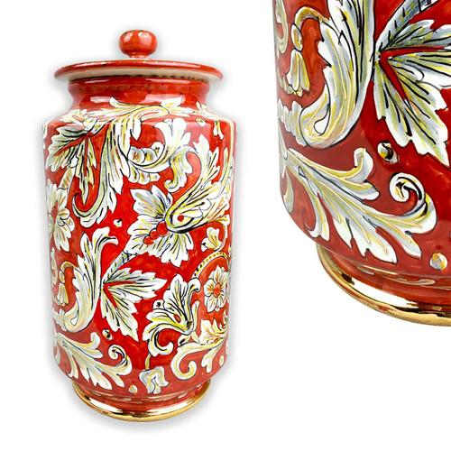Italian pottery Vase Tony Brand with Gold finishes