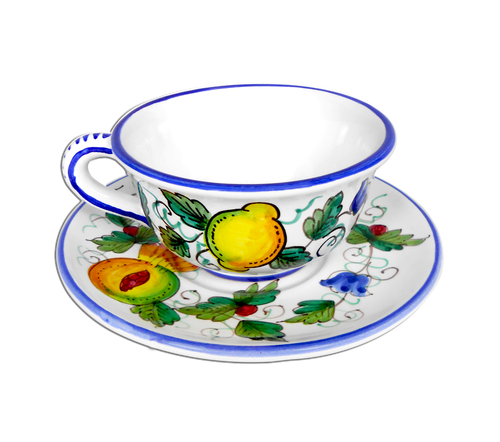 Pottery Tea Cup hand painted in Deruta