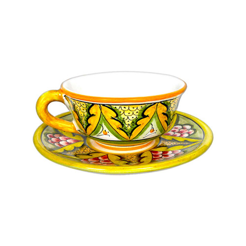 Italian ceramic tea cup and saucer