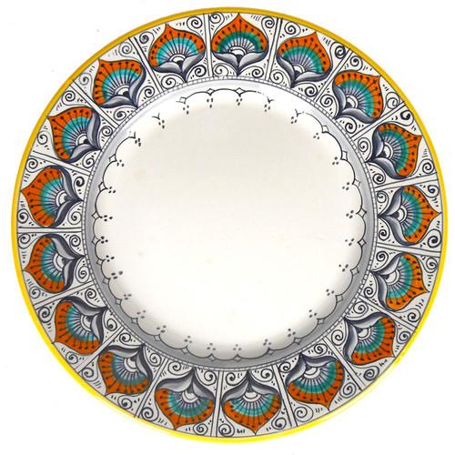 Dinner Plate Peacock Pattern