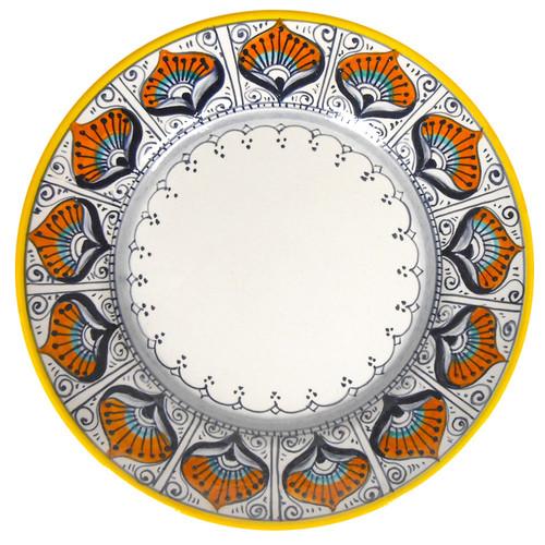 Salad Plate Peacock Pattern