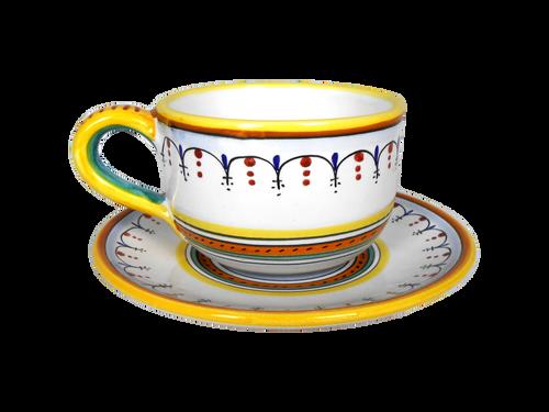 Milk cup raffaellesco semplificato hand painted