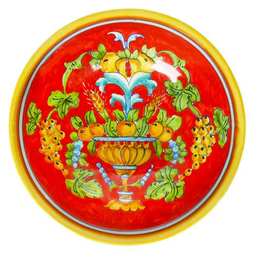 Italian pasta bowl corallo decoration
