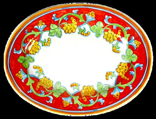 CORALLO SEMPLIFICATO Oval Tray