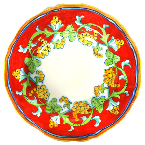 Pasta Soup plate Corallo decoration hand painted