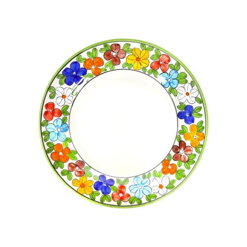 Salad plate daisy decoration deruta