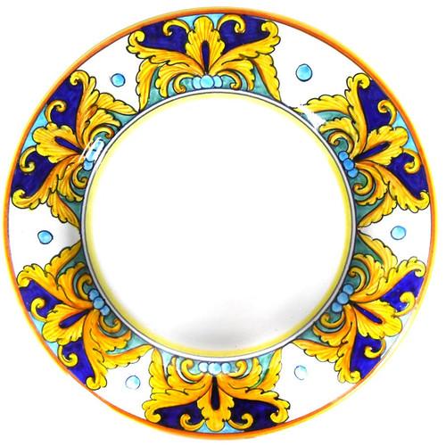 Salad dessert plate liberty painted in Deruta