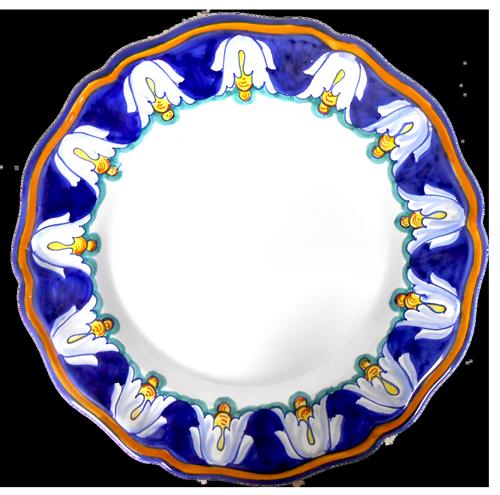IRIS BLU  Dinner Plate