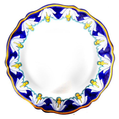 IRIS BLU Serving or charger Plate