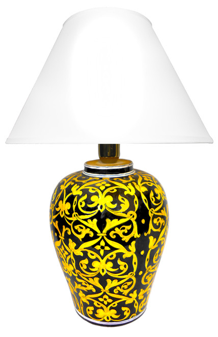 Damasco black background (Lampshade not included)