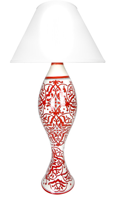 Damasco Red Big  Lamp (Lampshade not included)