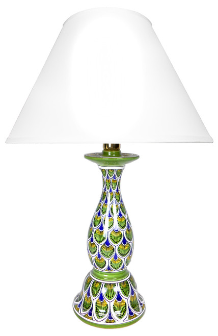 Peacock Feathers Lamp (Lampshade not included)