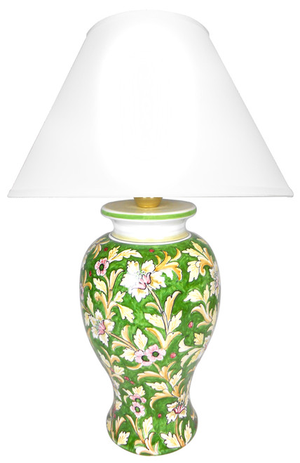 Delia Back ground green Lamp (Lampshade not included)