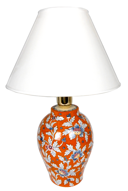 Delia orange background decoration Lamp (Lampshade not included)
