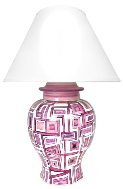 Geometrico Viola Abat-jour (Lampshade not included)