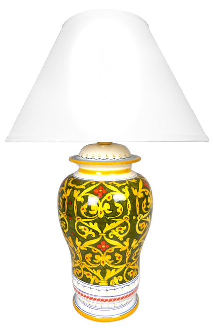 Damasco Verde Lamp (Lampshade not included)