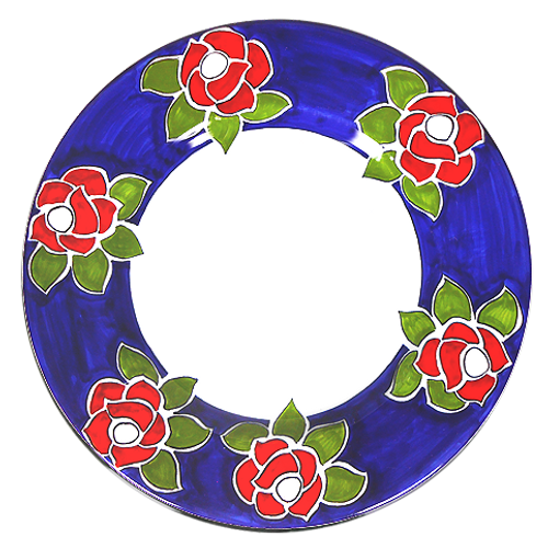 Roses Pasta Soup Plate