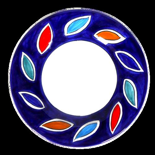 Arlecchino Blu Salad Plate