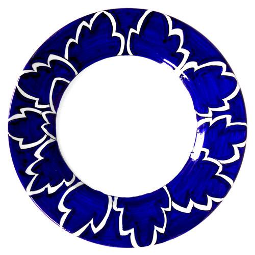 Maple Leaf Blue Dinner Plate