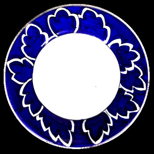 Maple Leaf Blue Pasta Soup Plate