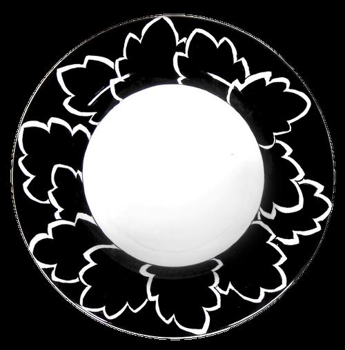 Maple Leaf Black Dinner Plate