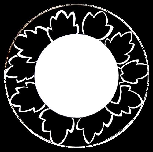 Maple Leaf Black Pasta Soup Plate
