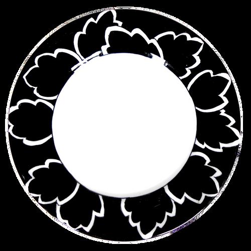 Maple Leaf Black Salad Plate