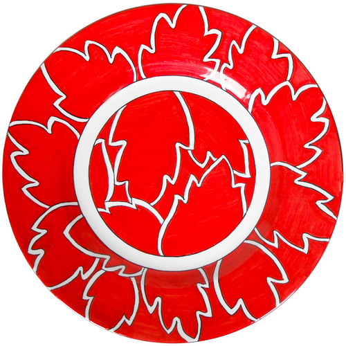 Maple Leaf Red Dinner Plate total red