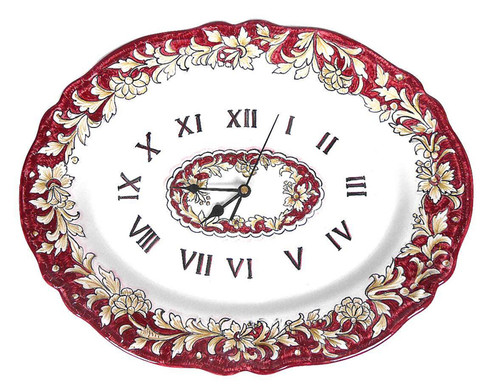 Foglie Carminio Delia Clock