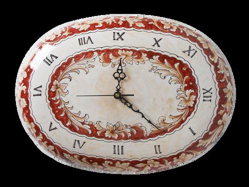 Foglie Rossicce Clock 19.0 Inches