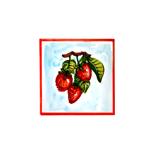 Strawberry Tile 3,9 x 3,9 Inches